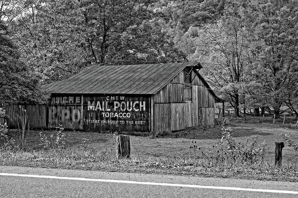 West Virginia Poster featuring the photograph Have A Chaw Monochrome by Steve Harrington