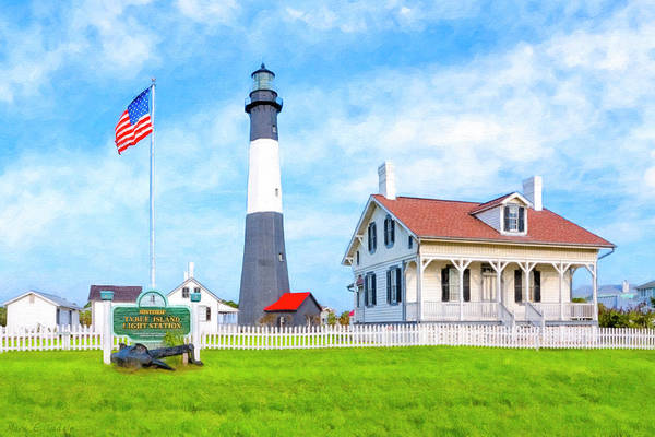 Tybee Poster featuring the photograph Historic Tybee Island Light Station by Mark E Tisdale