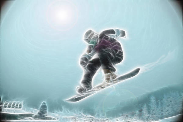 Snowboarding Poster featuring the photograph Iceman by Rich Beer