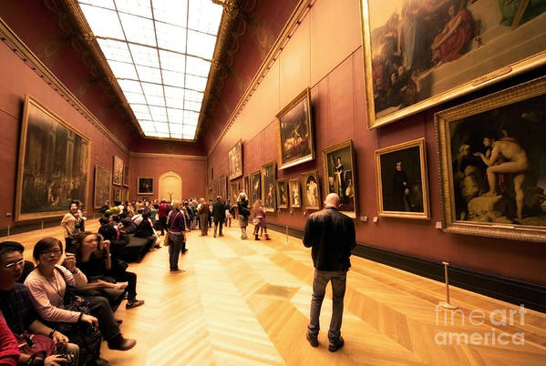Louvre Museum Poster featuring the photograph Inside Louvre Museum by Charuhas Images