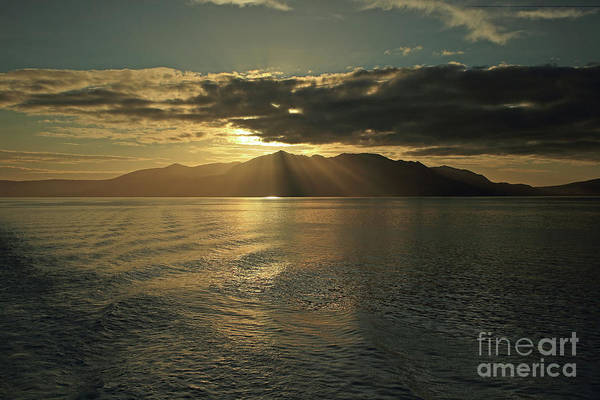 Uk Poster featuring the photograph Isle Of Arran At Sunset by Maria Gaellman