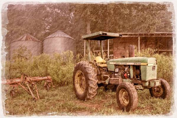 2440 Poster featuring the photograph John Deere Antique by Debra and Dave Vanderlaan