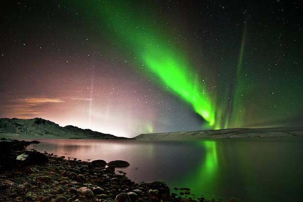 Horizontal Poster featuring the photograph Kleifarvatn Lake by Gudjon Otto Bjarnason