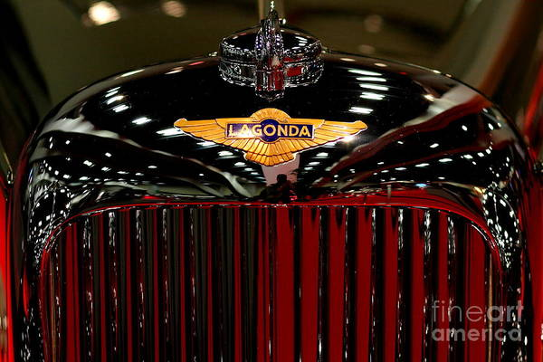 Lagonda Poster featuring the photograph Lagonda Badge by Wingsdomain Art and Photography
