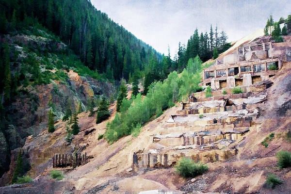 Colorado Poster featuring the photograph Leftovers From Sunnyside Mill by Lana Trussell