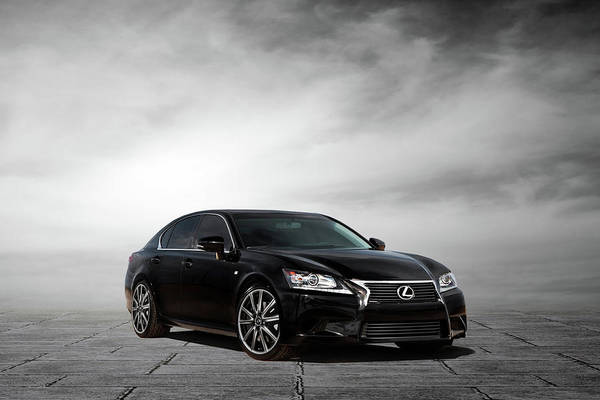 Lexus Poster Featuring The Digital Art Lexus Gs350 F Sport By Peter Chilelli