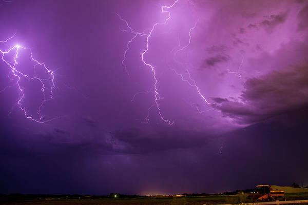 Nebraskasc Poster featuring the photograph Lightning Totalitty 002 by NebraskaSC
