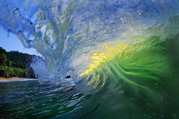 Ocean Wave Poster featuring the photograph Limelight by Sean Davey