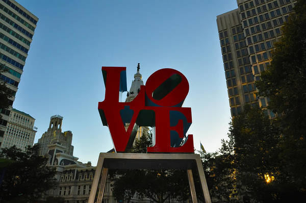 Love Park Poster featuring the photograph Love Park In Philadelphia by Bill Cannon