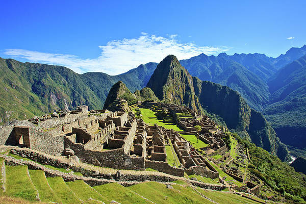 Horizontal Poster featuring the photograph Machu Picchu by Kelly Cheng Travel Photography