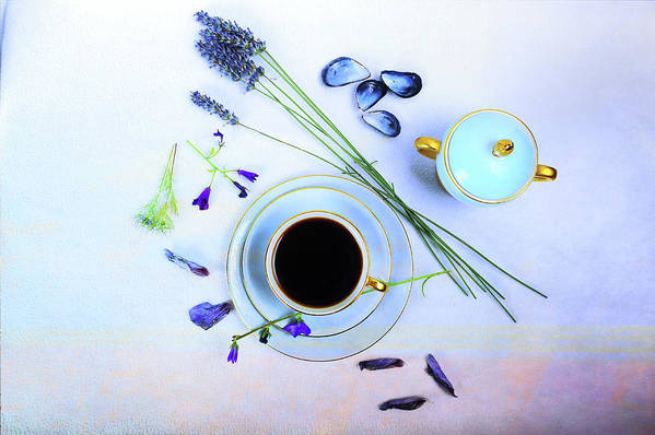Cafe Poster featuring the photograph Memories And Coffee by Randi Grace Nilsberg
