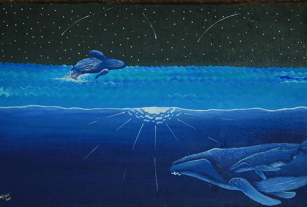 Endangered Poster featuring the painting Midnight by Nick Flavin