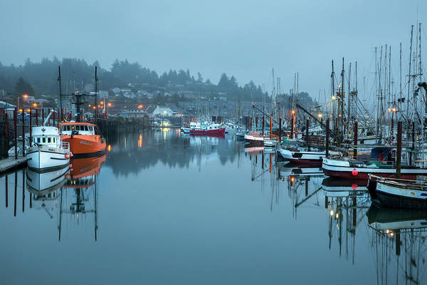 Florence Poster featuring the photograph Newport Fishing Boats by Jon Glaser