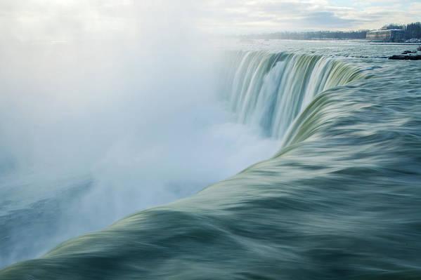 Horizontal Poster featuring the photograph Niagara Falls by Photography by Yu Shu