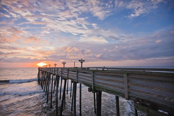 Atlantic Poster featuring the photograph Obx Sunrise by Adam Romanowicz