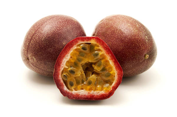 White Background Poster featuring the photograph Passion Fruits by Fabrizio Troiani