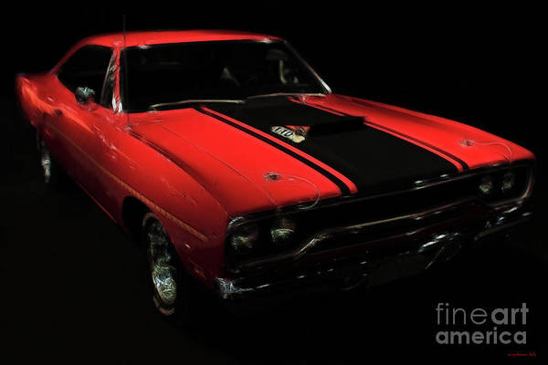 Plymouth Duster Poster featuring the photograph Plymouth Duster 440s Beep Beep by Wingsdomain Art and Photography