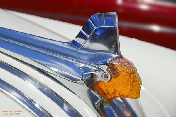 Pontiac Poster featuring the photograph Pontiac Hood Ornament by Larry Keahey