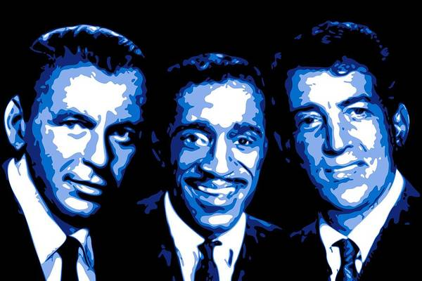 Frank Sinatra Poster featuring the digital art Ratpack by DB Artist
