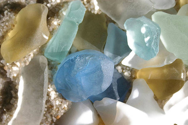 Seaglass Poster featuring the photograph Seaglass by Mary Haber