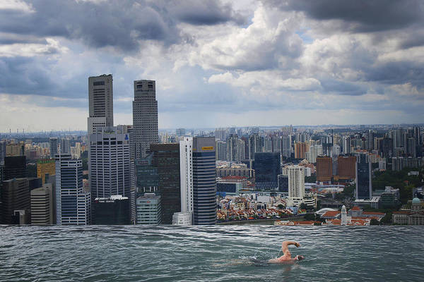 Singapore Poster featuring the photograph Singapore Swimmer by Nina Papiorek