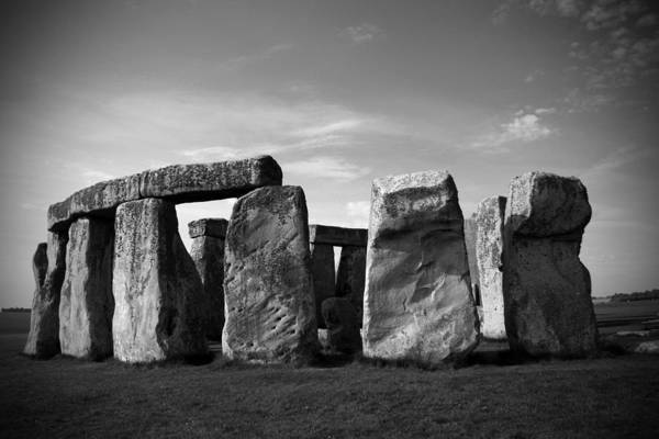 Stonehenge No 1 Bw Poster featuring the photograph Stonehenge No 1 Bw by Kamil Swiatek