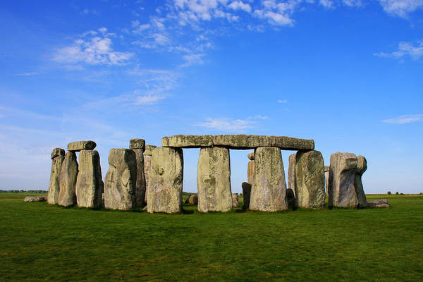 Stonehenge On A Clear Blue Day Poster featuring the photograph Stonehenge On A Clear Blue Day by Kamil Swiatek