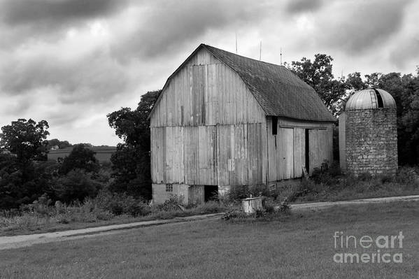 Barn Poster featuring the photograph Stormy Barn by Perry Webster