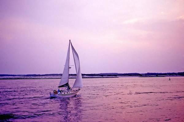 Sailboat Poster featuring the photograph Sunset Sailing by Bill Jonscher