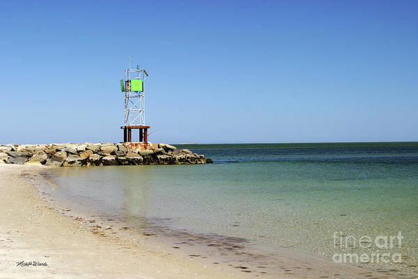 Jetty Poster featuring the photograph The Bass River Jetty South Yarmouth Cape Cod Massachusetts by Michelle Wiarda