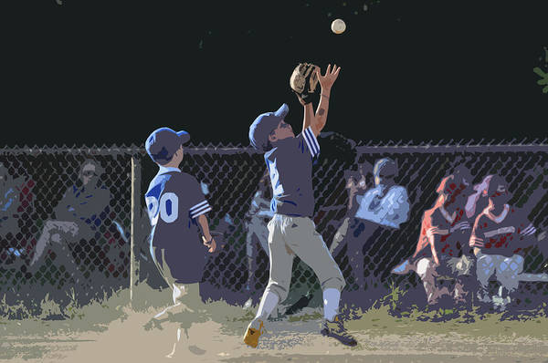 Baseball Poster featuring the photograph The Catch by Peter McIntosh