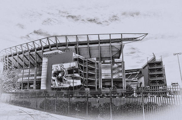 Linc Poster featuring the photograph The Linc - Philadelphia Eagles by Bill Cannon
