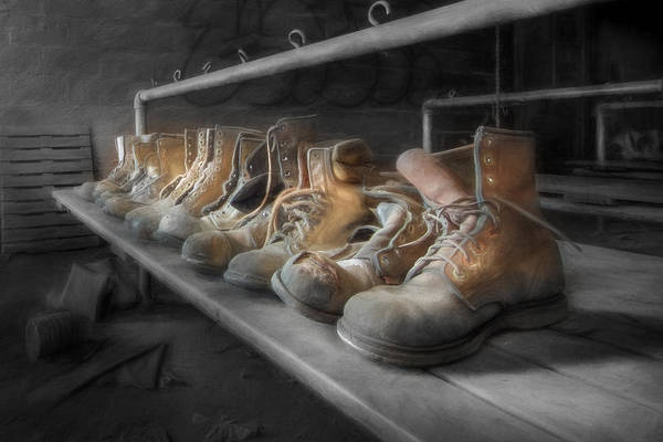 Boot Poster featuring the photograph The Room Of Lost Soles by Lori Deiter