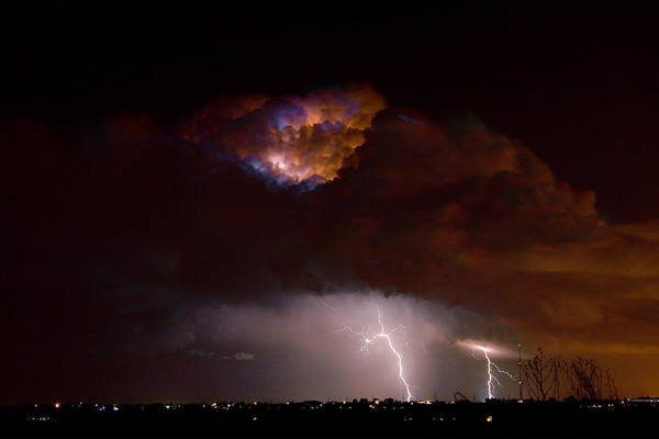 Lightning Poster featuring the photograph Thunderstorm Boulder County 08-15-10 by James BO Insogna