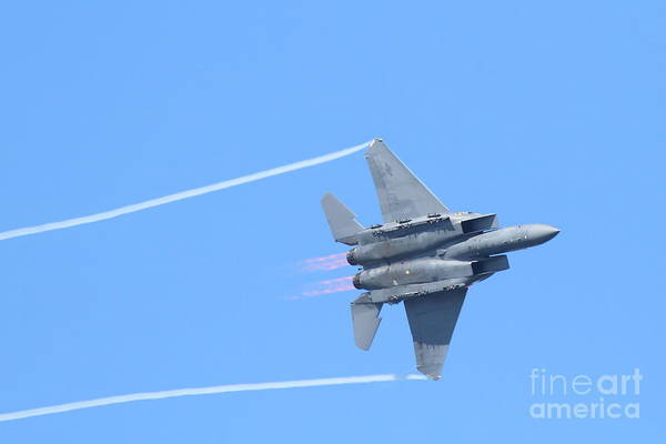 Fleet Week Poster featuring the photograph Usaf F-15 Strike Eagle . 7d7864 by Wingsdomain Art and Photography