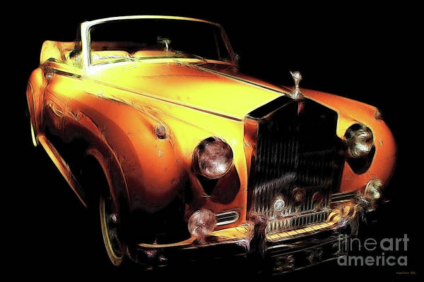Rolls Royce Poster featuring the photograph Vanilla Opulence by Wingsdomain Art and Photography