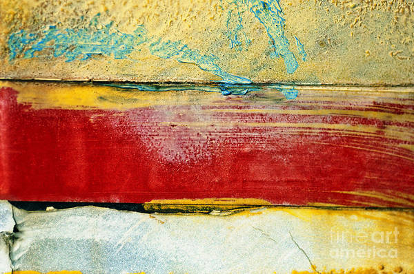 Abstract Poster featuring the photograph Wall Strip by Ray Laskowitz - Printscapes