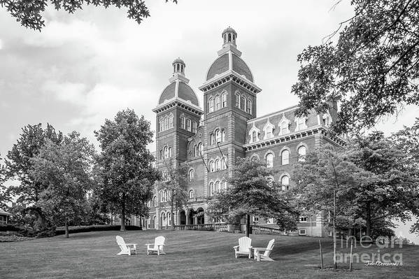 Civil War Poster featuring the photograph Washington And Jefferson College Old Main by University Icons