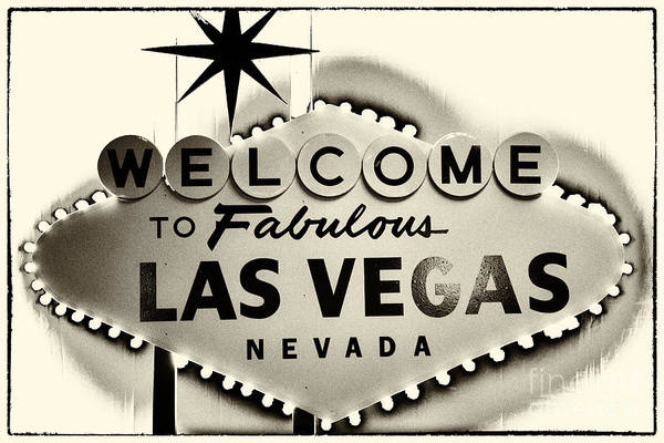 Las Vegas Poster featuring the photograph Welcome To Fabulous Las Vegas Nevada by Leslie Leda