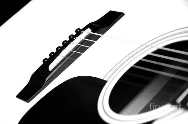 Guitar Poster featuring the photograph White Guitar 10 by Andee Design