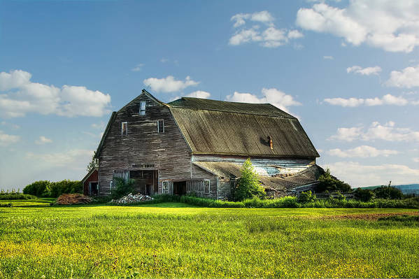 Barn Poster featuring the photograph Working This Old Barn by Gary Smith