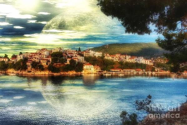 Yvonne Poster featuring the digital art Yvonnes World by Abbie Shores