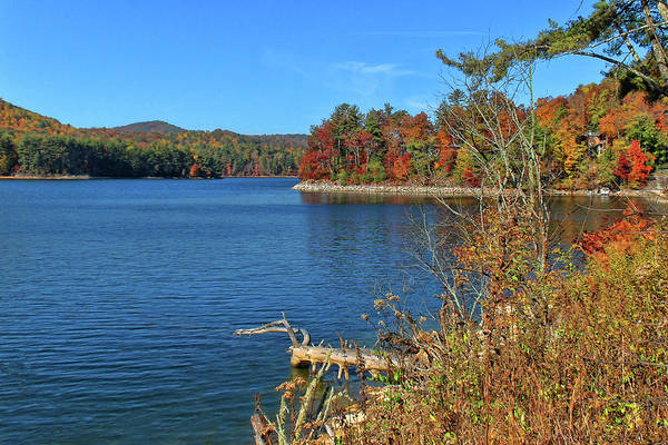 Lake Glenville Poster featuring the photograph Autumn In North Carolina by HH Photography of Florida