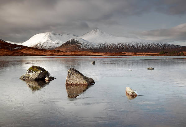 Glencoe Poster featuring the photograph Lochan Na H-achlaise by Grant Glendinning