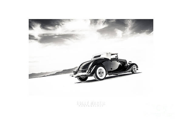 Antique Automobile Poster featuring the photograph Black And White Salt Metal by Holly Martin