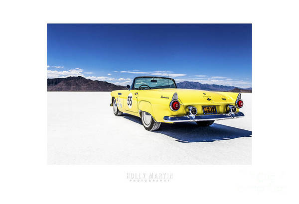 Antique Automobile Poster featuring the photograph Bonneville T-bird by Holly Martin
