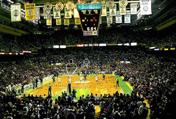Boston Celtics Poster featuring the digital art Go Celtics by David Schneider