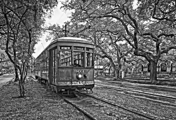 Garden District Poster featuring the photograph Rainy Day Ridin' Monochrome by Steve Harrington