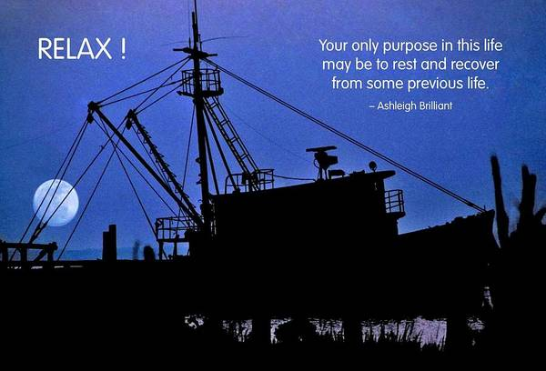 Quotation Poster featuring the photograph Relax by Mike Flynn