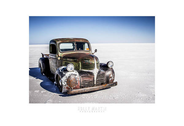 Antique Automobile Poster featuring the photograph Salt Metal Pick Up Truck by Holly Martin